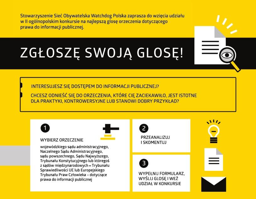 II ogólnopolski konkurs  nanajlepszą glosę orzeczenia dotyczącego prawa doinformacji