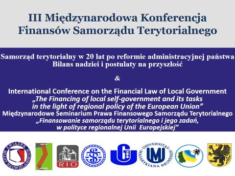 III Międzynarodowa  Konferencja Finansów Samorządu Terytorialnego