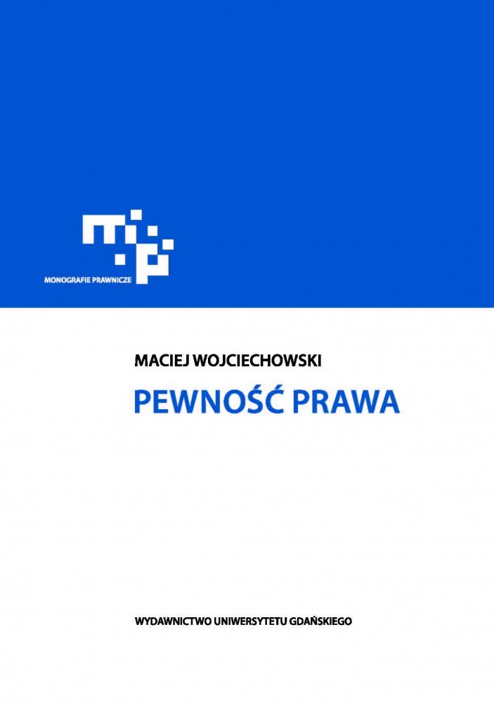 Wojciechowski Pewność prawa