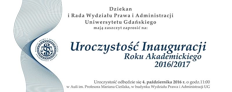 Zaproszenie na Inaugurację
