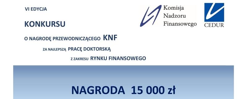 Konkurs KNF