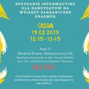 spotkanie informacyjne wyjazdy Erasmus
